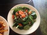 Apple Vinaigrette Spinach Salad